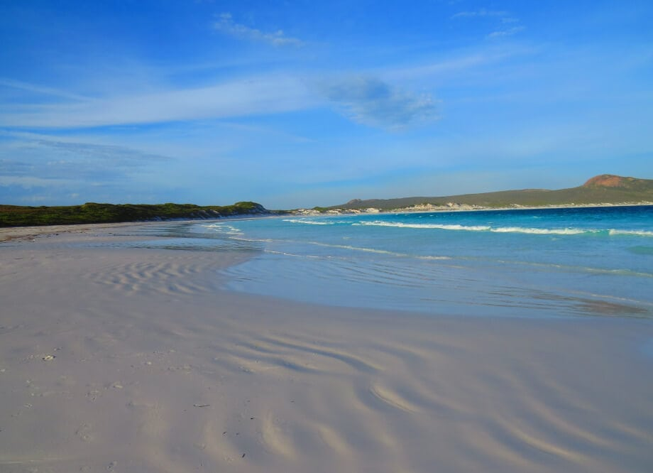 View of the beach Lucky bay in Esperance