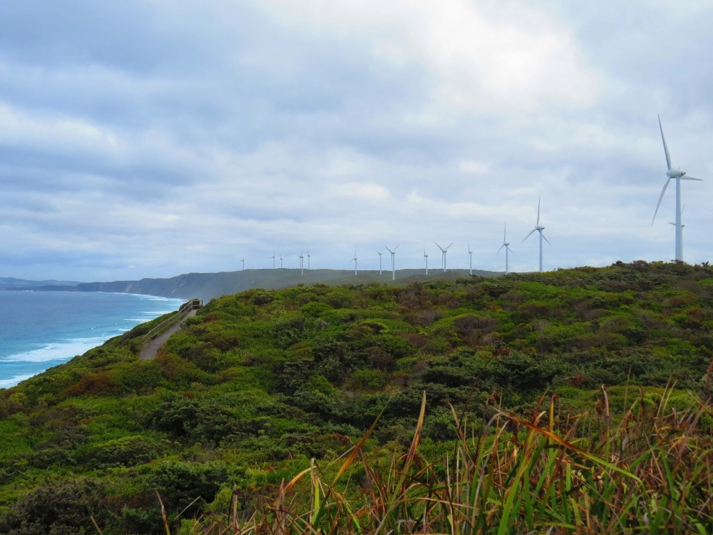 Wind Farm in Albany has amazing views on the Perth to Melbourne road trip.