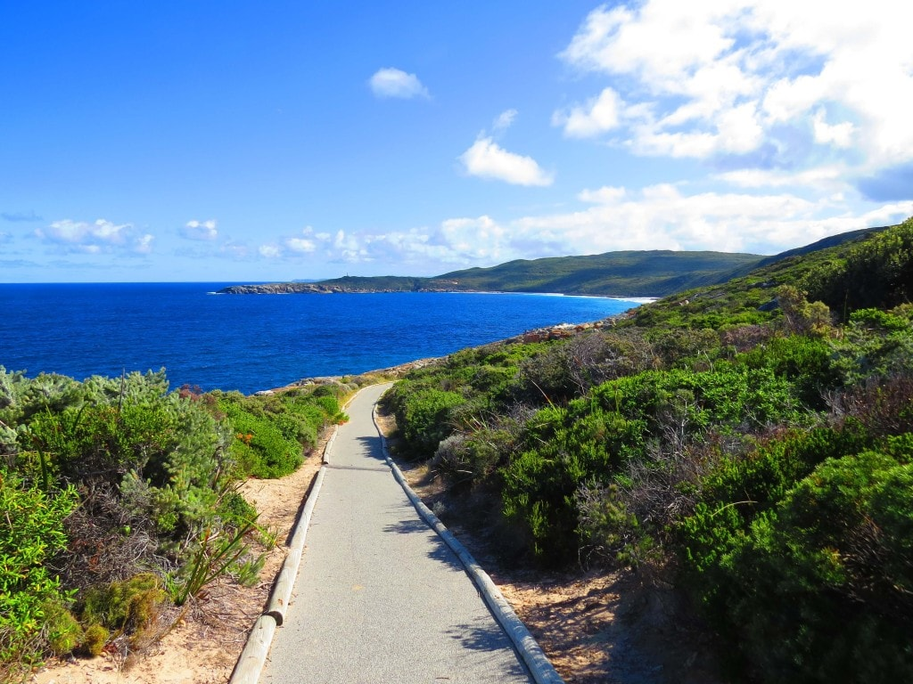 Walkway to Blow Holes best seen on certain weather conditions- things to see on the Perth to Melbourne road trip.