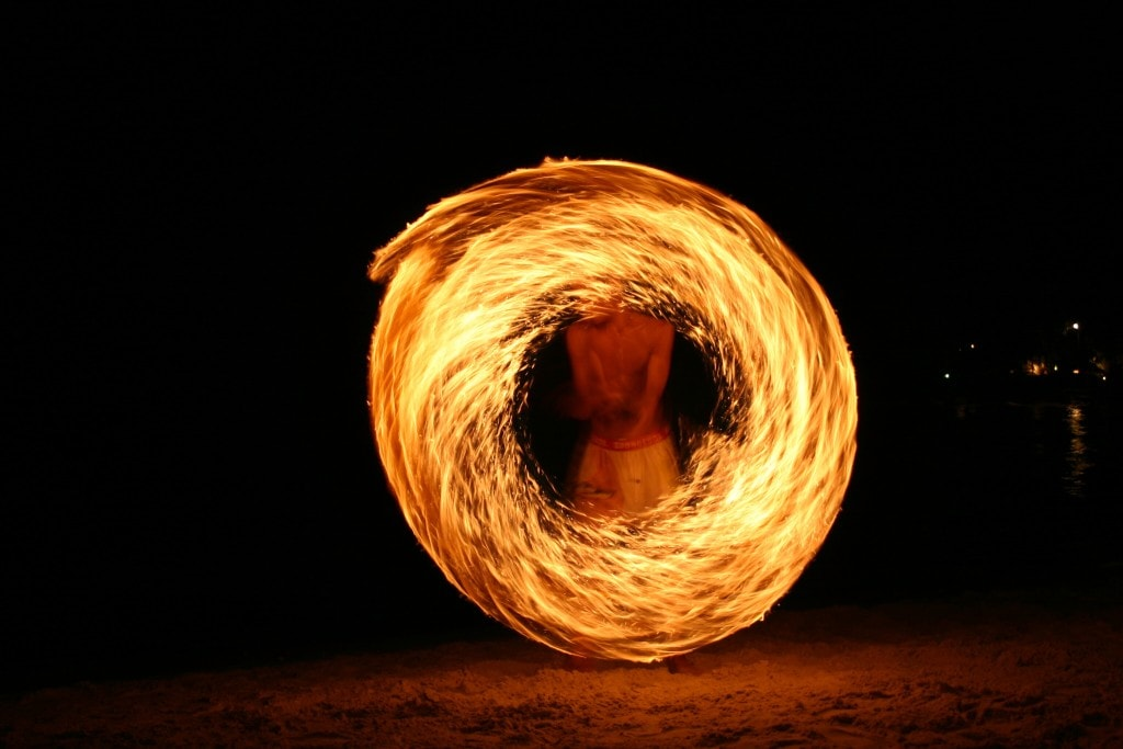 Fire show in Boracay