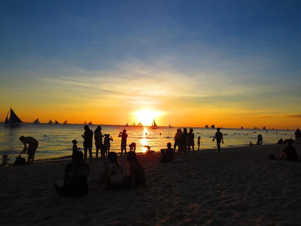 Sunset on White Beach Boracay