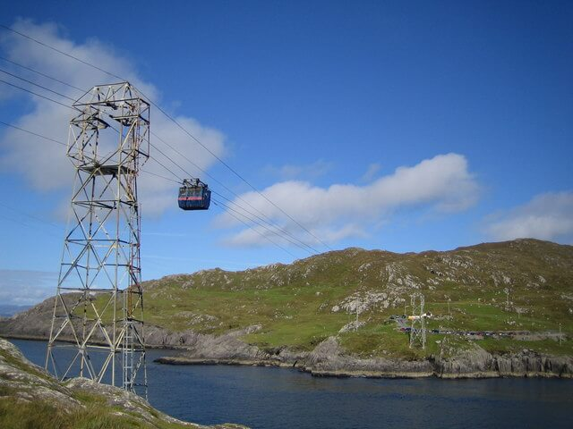 Cable car to Dursey Island Ireland