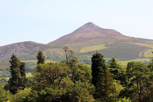 Klimbing the Sugar Loaf in Ireland