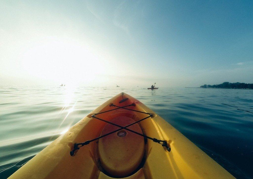 Kayaking on the coast of Ireland