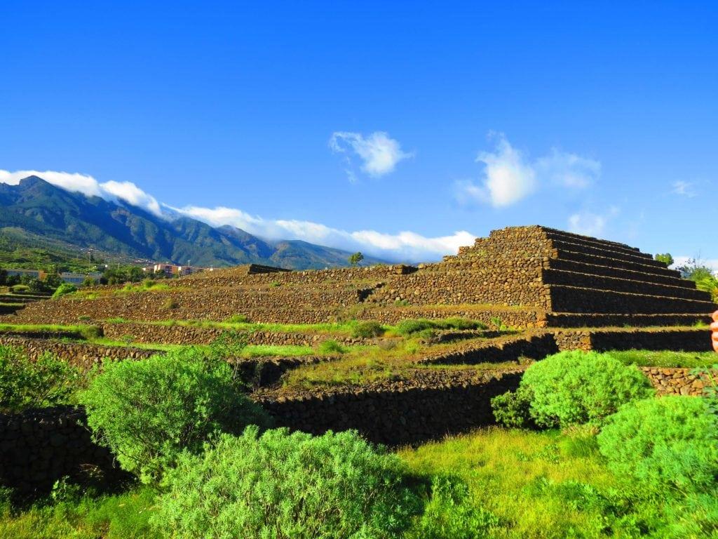 The pyramids de Güímar at Santa Cruz de Tenerife