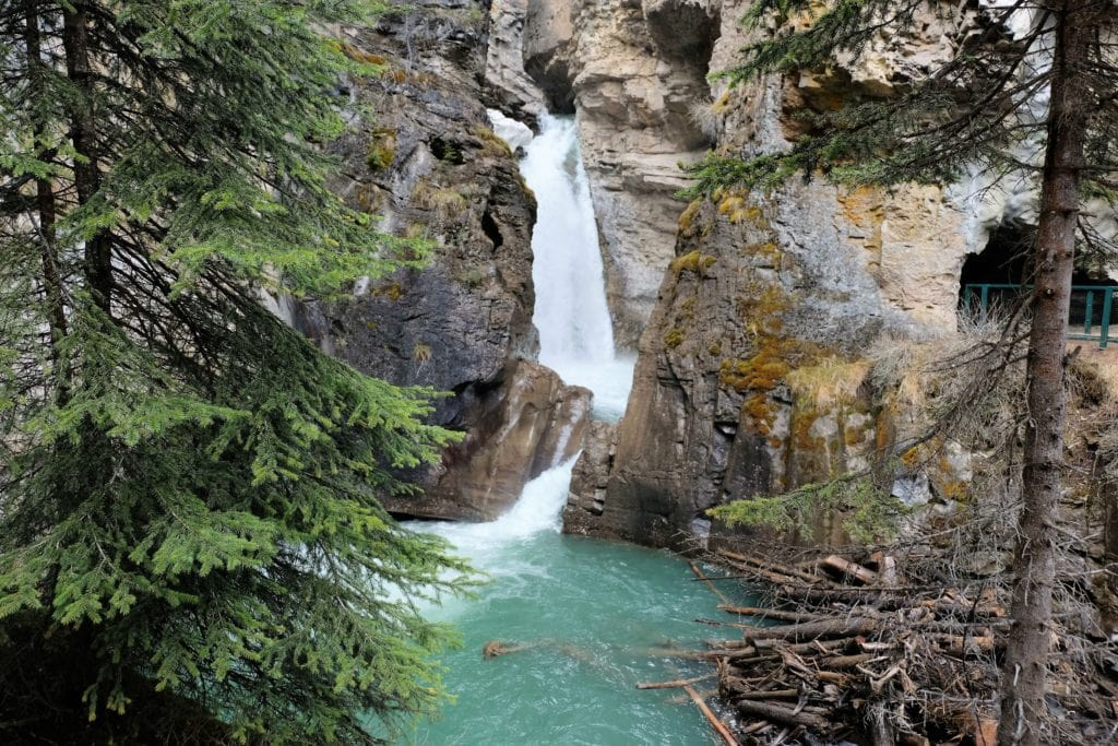The Johnston Canyon falls along our road trip from Vancouver to Yellow Knife
