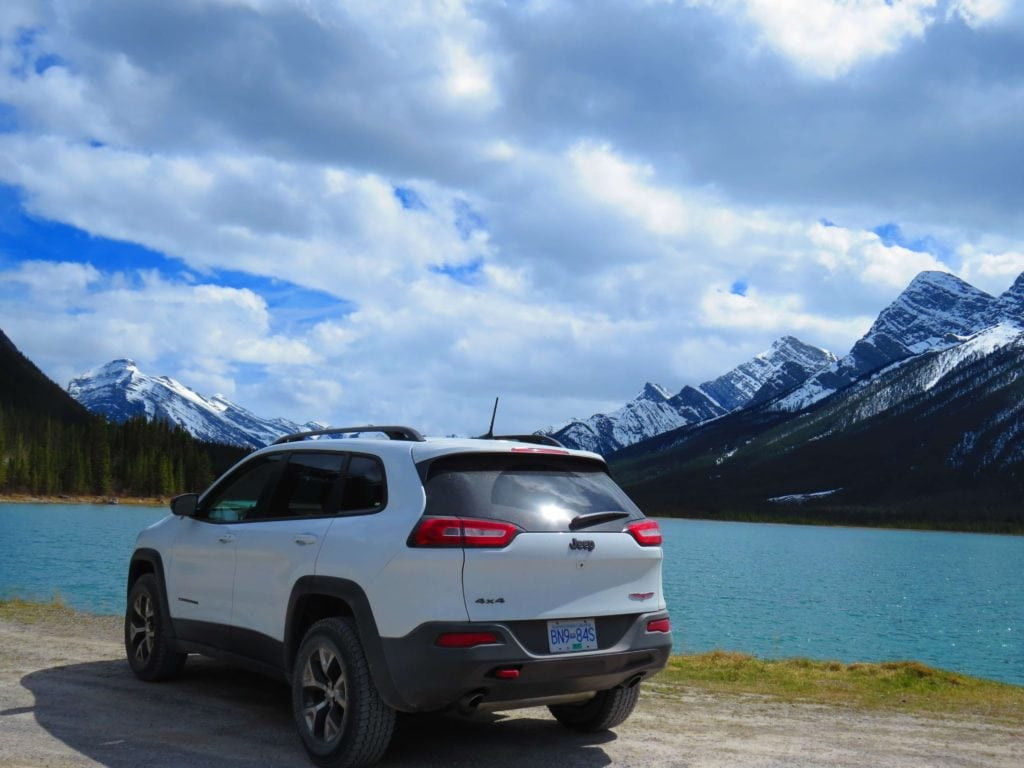 Our car rental on our rocky mountain road trip