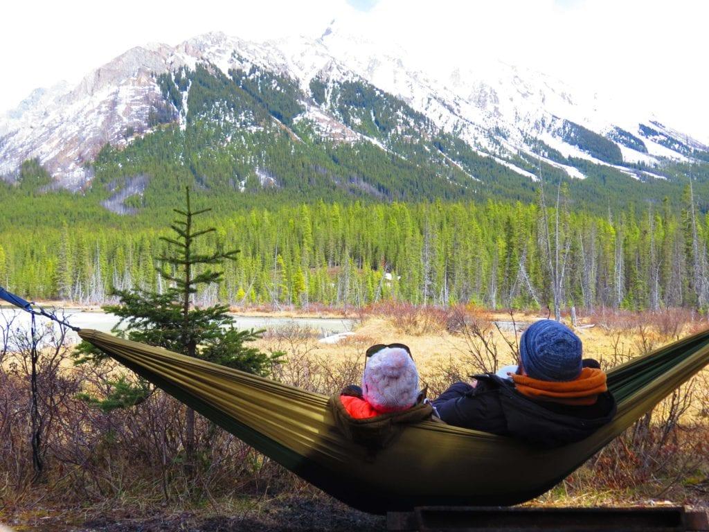 Canadian rockies road trip bring a hammock