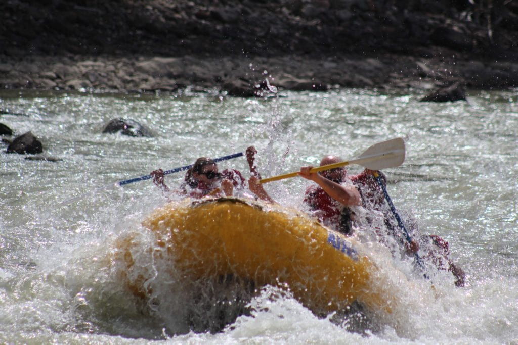 White water rafting in Jasper national park