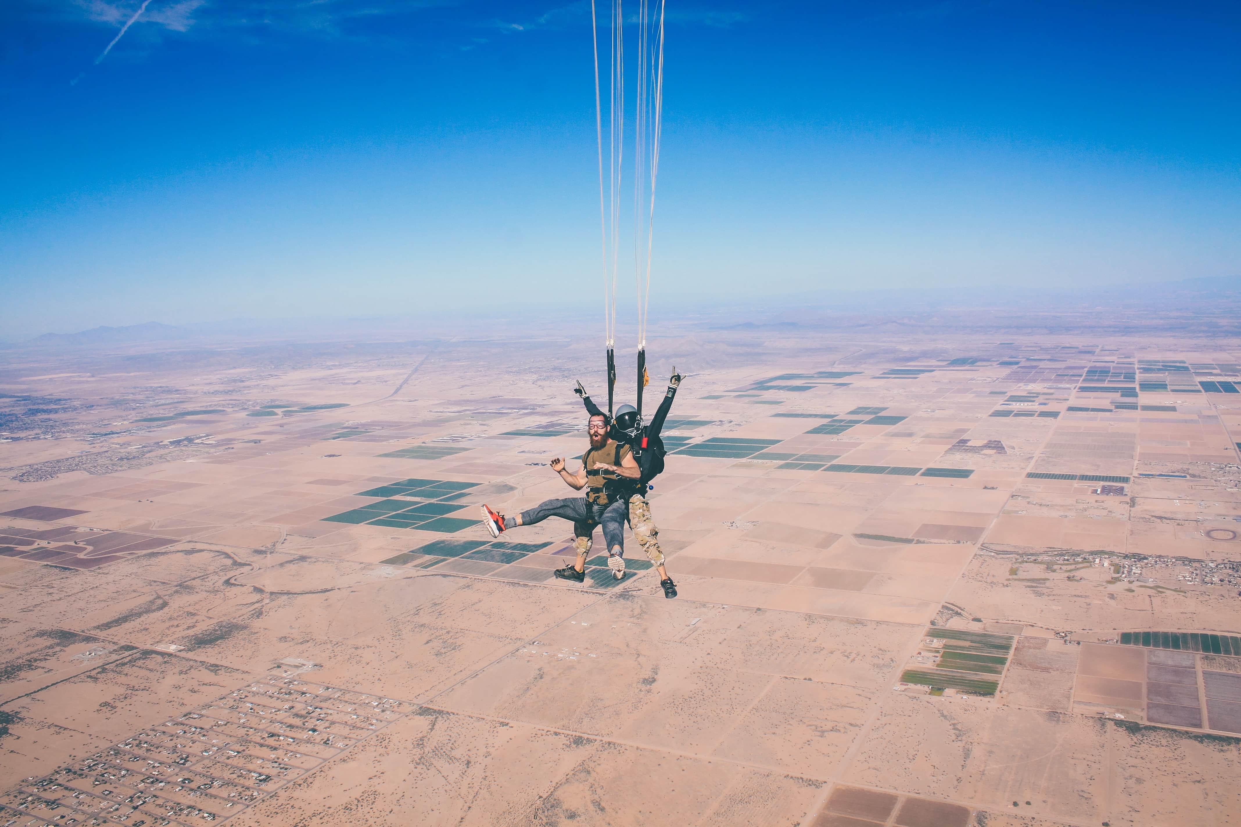 skydiving in vegas