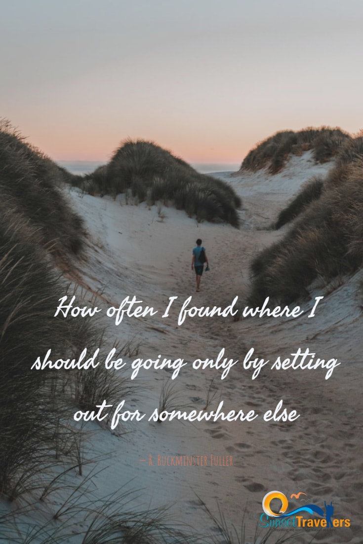 How often I found where I should be going only by setting out for somewhere else. R. Buckminster Fuller