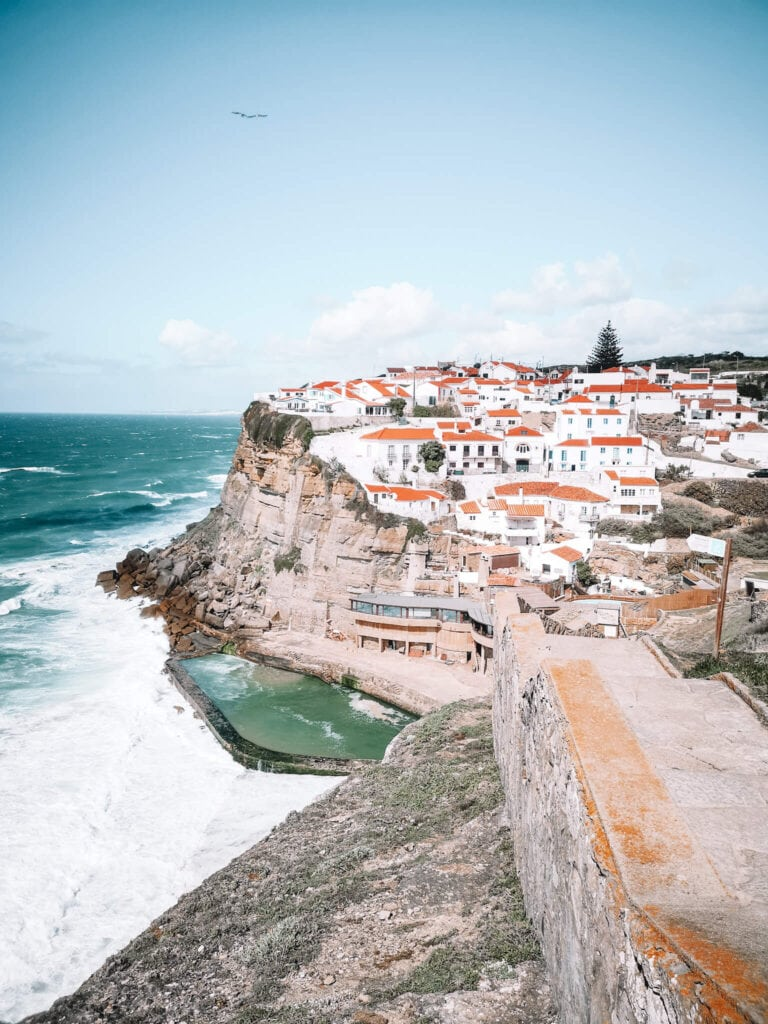 viewpoint to the lovely little town of Azenhas do Mar.