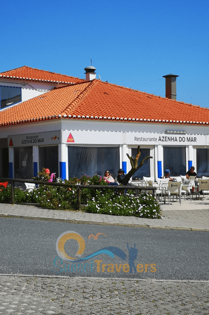 A view of the restaurant Azenha do Mar on our Portugal road trip