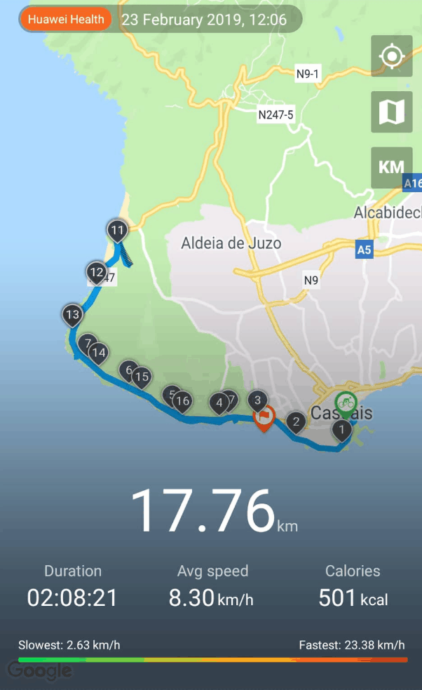 One of the best things to do in Cascais Cycle track from Cascais center to Guincho beach
