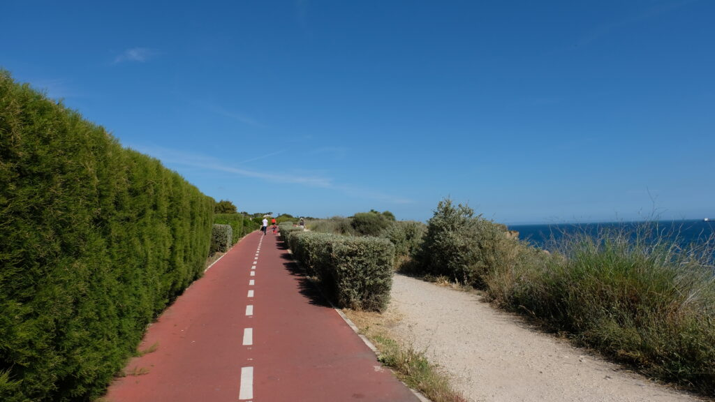 Cycle track from Cascais town to Guincho beach.
