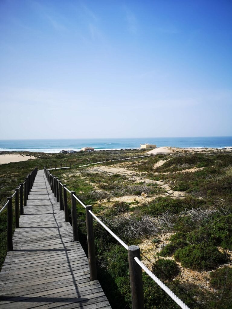 New dune walkway by Guincho beach an amazing thing to do in Cascais