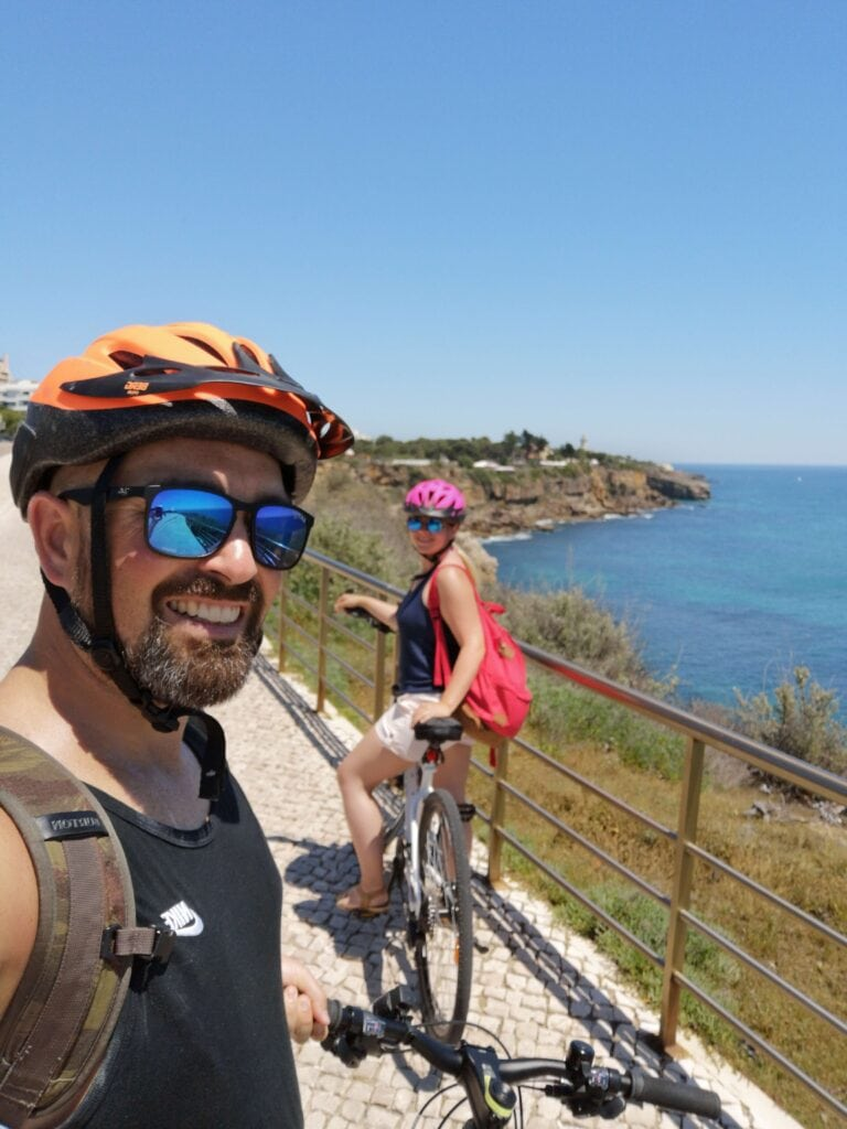 Cycling to Guincho beach, Cascias, Portugal