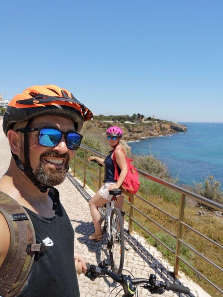 Cycling to Guincho beach, Cascias, Portugal
