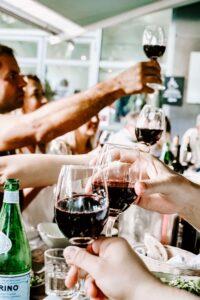 Wine tasting in the Lisbon wine region.