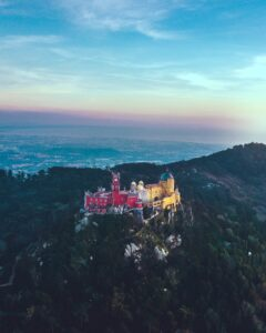 Pena Palace in Sintra is one of the most popular tourist attractions in Portugal.