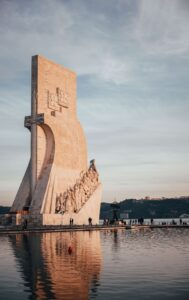Monument to the Discoveries in Lisbon, Belem built in 1960.