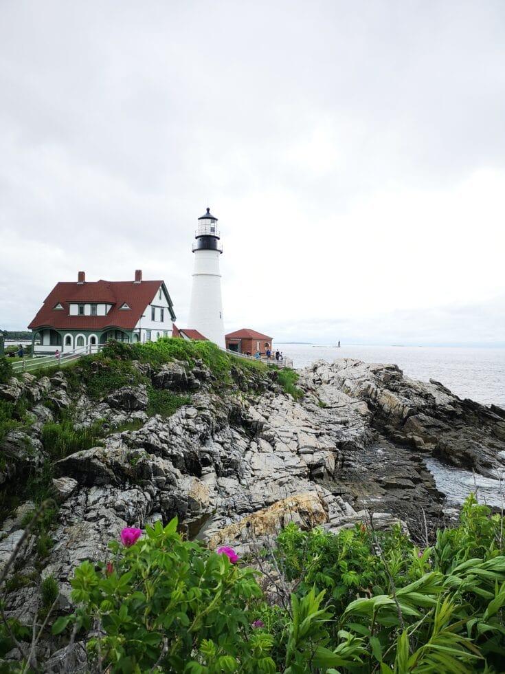 Portland head lighthouse on our Boston Road Trip