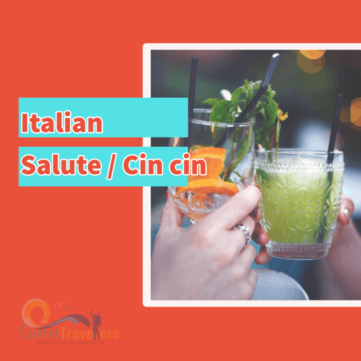 How do you say cheers in Italian