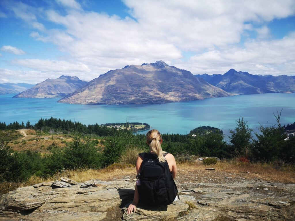 Queenstown Hill hike on our 14 day road trip around New Zealand