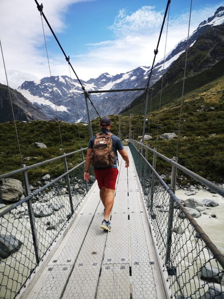 Exploring the Hooker Valley on our 14 day road trip around New Zealand's South Island